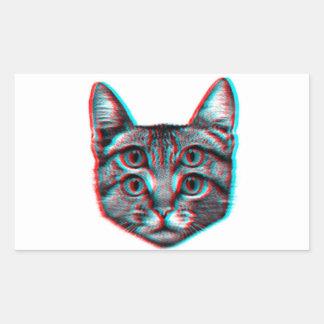 Cat 3d,3d cat,black and white cat sticker