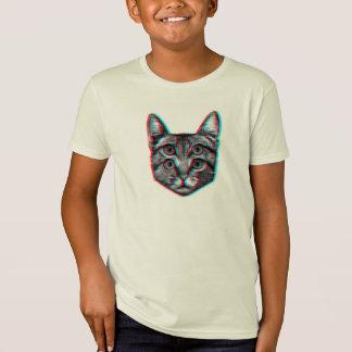 Cat 3d,3d cat,black and white cat T-Shirt