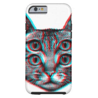 Cat 3d,3d cat,black and white cat tough iPhone 6 case