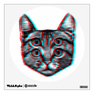 Cat 3d,3d cat,black and white cat wall sticker