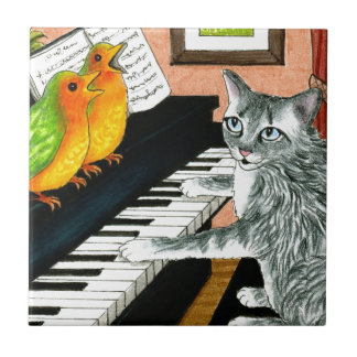 Cat 457 playing Birds Piano Tile