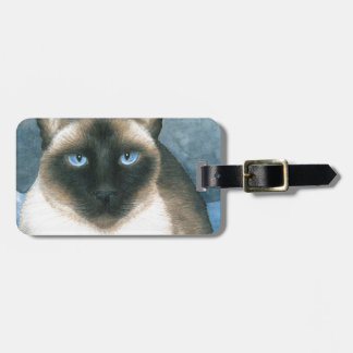 Cat 547 Siamese Luggage Tag