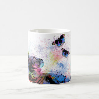 Cat 614 butterfly coffee mug