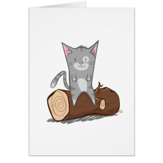 Cat a log - Greeting Card