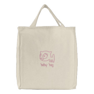 Cat-a-porter Embroidered Baby Bag (light pink)