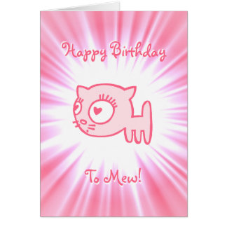 Cat-a-porter Happy Birthday To Mew! Card