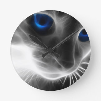 Cat Abstracts Arcadia Collection Round Clock