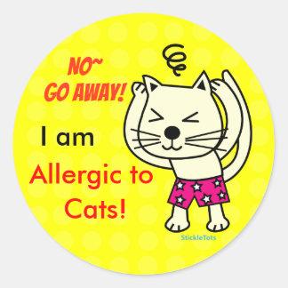 Cat Allergy Classic Round Sticker