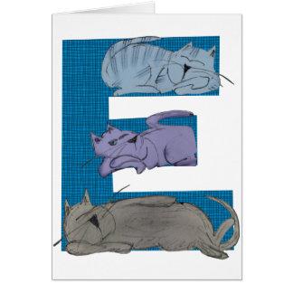 Cat Alphabet E Card