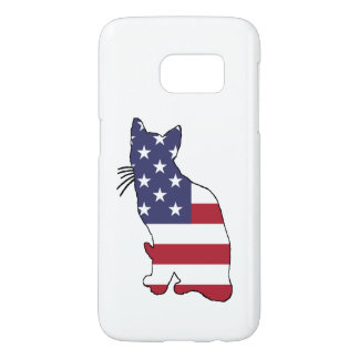 "Cat ""American Flag"" Samsung Galaxy S7 Case"