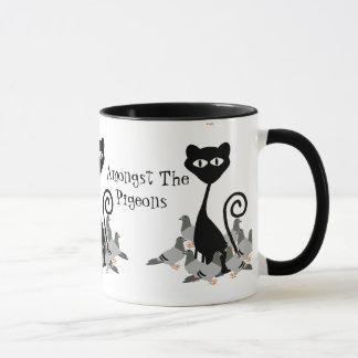 Cat Amongst The Pigeons Mug