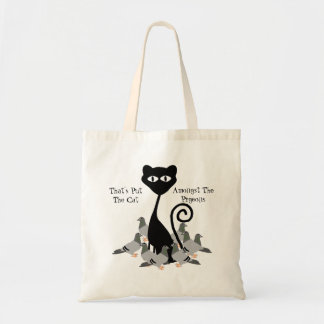 Cat Amongst The Pigeons Tote Bag