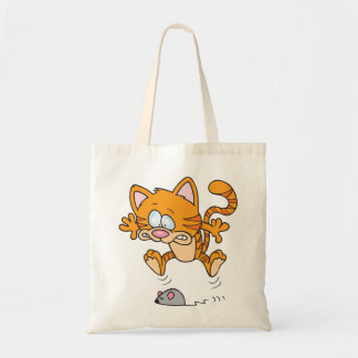Cat And A Mouse Tote Bag
