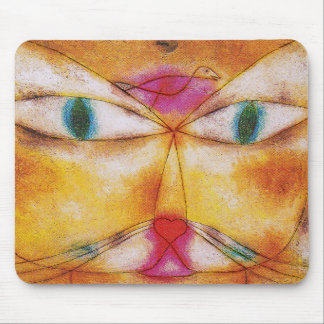 Cat and Bird - Abstract Art - Paul Klee Mouse Pads