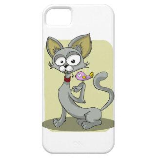 Cat and Bird Cartoon Mobile Phone Case