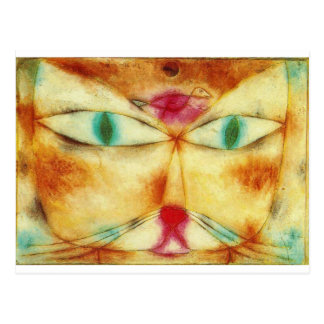 Cat and Bird - Paul Klee Postcard
