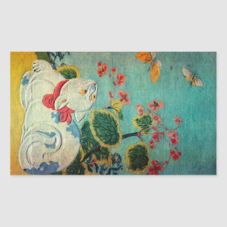Cat and Butterfly, Suzuki Harunobu