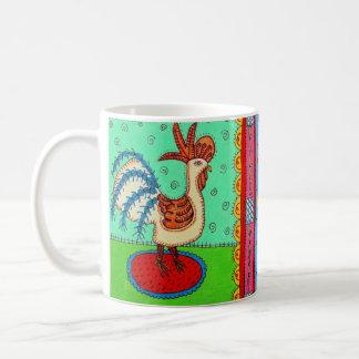 Cat and Cockeral Coffee Mug