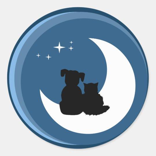 Cat and Dog Best Friends sticker