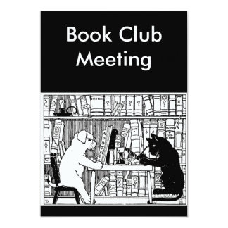 Cat and Dog Book Club Card