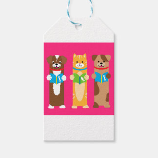 Cat and Dog Bookmarks Gift Tags