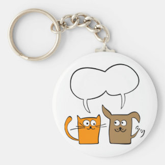 cat and dog keychain
