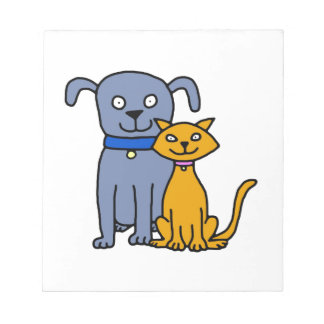 Cat and Dog Notepad