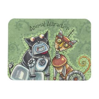Cat And Dog Robots MAGNET *Customize