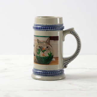 Cat and fish - cat - funny cats - crazy cat beer stein