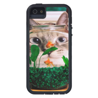 Cat and fish - cat - funny cats - crazy cat iPhone 5 cover