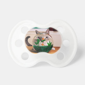 Cat and fish - cat - funny cats - crazy cat pacifier