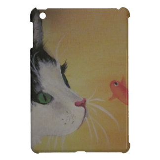 cat and fish i-pad mini case iPad mini case