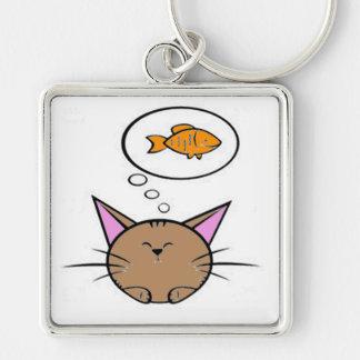 cat and fish Keychain