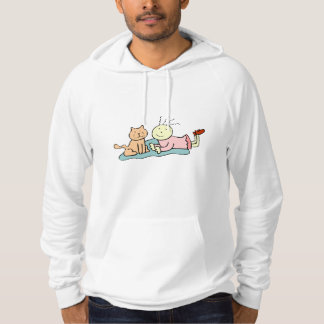 Cat And Girl Hooded Pullovers