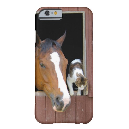 Cat and horse - horse ranch - horse lovers barely there iPhone 6 case