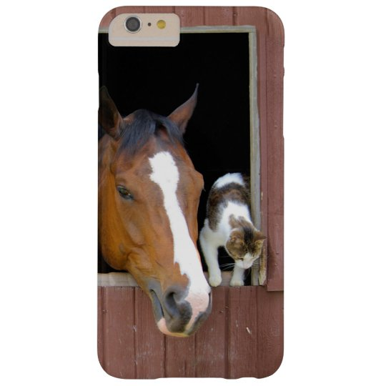 Cat and horse - horse ranch - horse lovers barely there iPhone 6 plus case