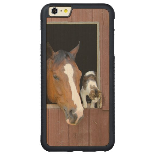 Cat and horse - horse ranch - horse lovers carved® maple iPhone 6 plus bumper case