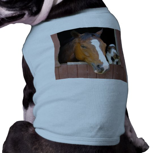 Cat and horse - horse ranch - horse lovers dog shirt