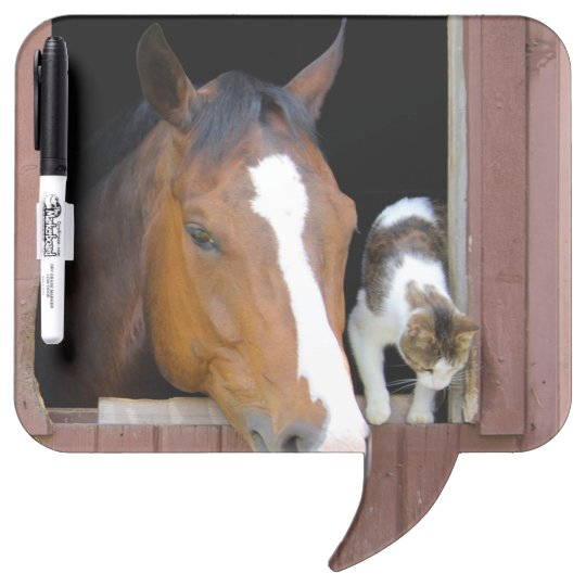 Cat and horse - horse ranch - horse lovers Dry-Erase boards