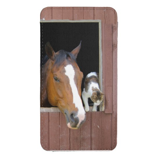 Cat and horse - horse ranch - horse lovers galaxy s4 pouch