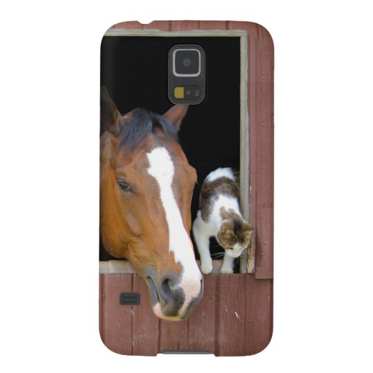 Cat and horse - horse ranch - horse lovers galaxy s5 covers