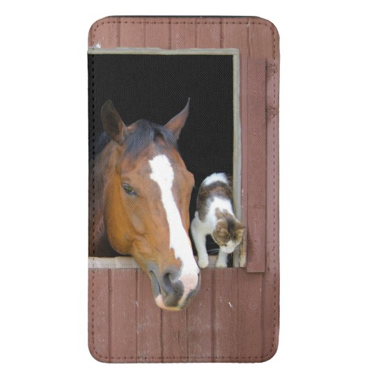Cat and horse - horse ranch - horse lovers galaxy s5 pouch