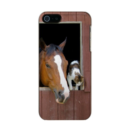 Cat and horse - horse ranch - horse lovers incipio feather® shine iPhone 5 case