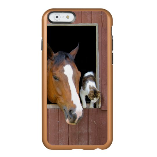 Cat and horse - horse ranch - horse lovers incipio feather® shine iPhone 6 case