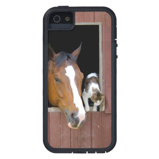 Cat and horse - horse ranch - horse lovers iPhone 5 covers
