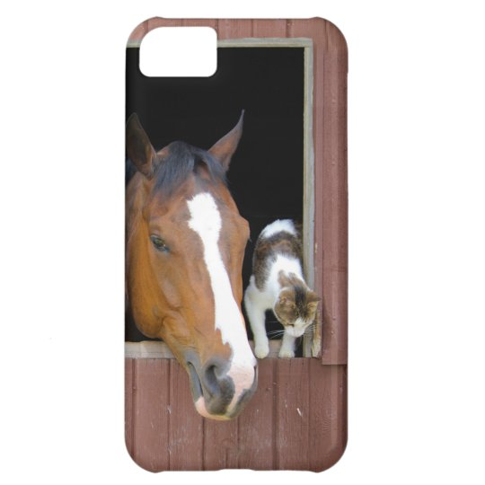 Cat and horse - horse ranch - horse lovers iPhone 5C case