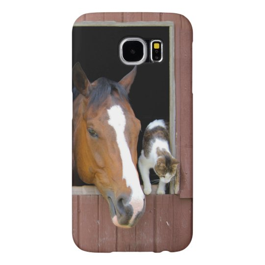 Cat and horse - horse ranch - horse lovers samsung galaxy s6 cases
