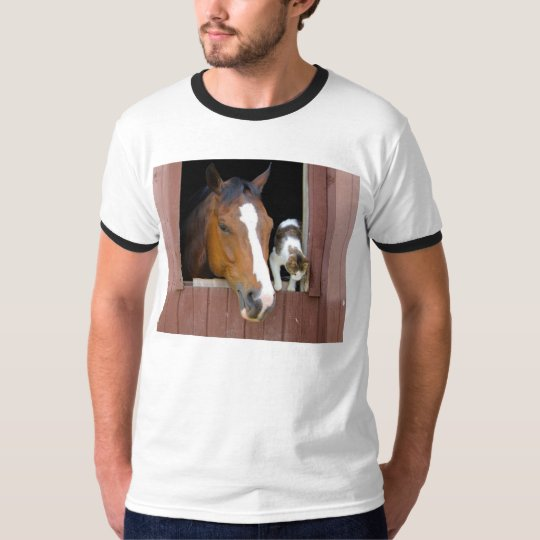 Cat and horse - horse ranch - horse lovers T-Shirt