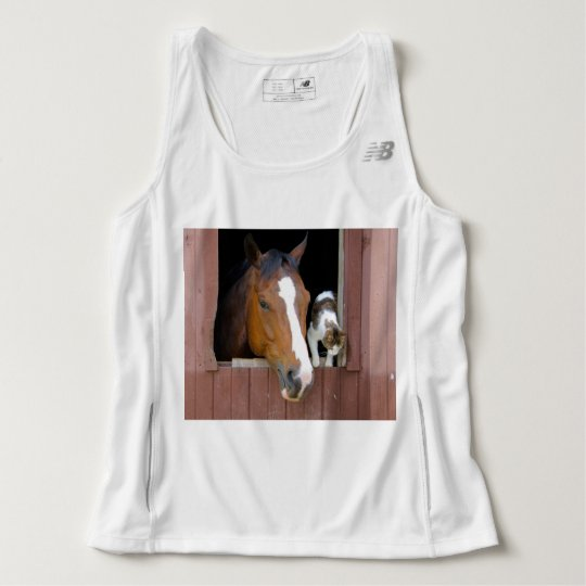 Cat and horse - horse ranch - horse lovers tank top