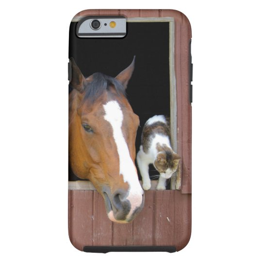 Cat and horse - horse ranch - horse lovers tough iPhone 6 case